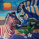 Sunset in Ngoro Ngoro. SOLD by Tatyana Binovskaya
