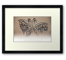 Peace, Love and Strength (Card for a gravely ill baby or child) Framed Print