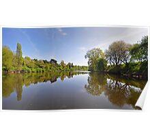 River Severn at Upton on Severn, Worcestershire, UK Poster