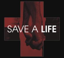 SAVE A LIFE LOGO HOODIE by DeniedSeries