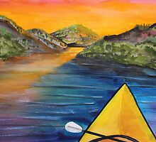 Kayakers Sunset by Jack G Brauer