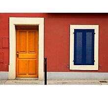 blue shutters Photographic Print