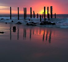 Jetty at Port Willunga, South Australia. by Paul Pegler
