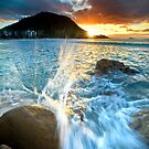 The Mount Sunset Splash by Ken Wright