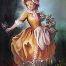 Reproduction of rococo painting by Lubna