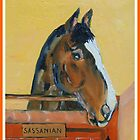 Sassanian  Race horse and Sire by Belinda Galsworthy