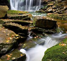 Elakala Falls in Blackwater State Park, West Virginia by hankfrentzphoto