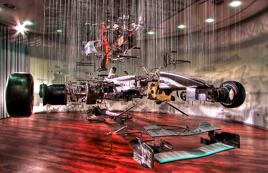 Mercedes GP Exploded - HDR by Colin J Williams Photography