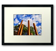 Pillars of Peavey Plaza Framed Print