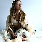 """Stephanie with her bear. by Alexa """"Lexi"""" Platts"""