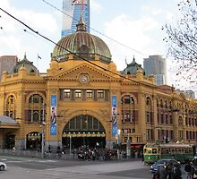 Flinders Street, Melbourne by axemangraphics