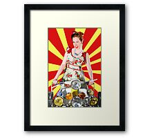 Scootering Smile Framed Print