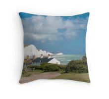 Seven Sisters Cliffs Throw Pillow