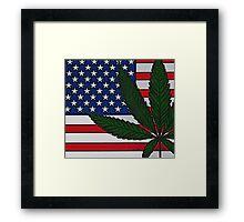 Americana Cannabis Flag Framed Print
