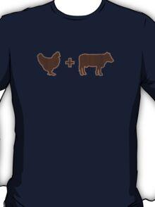 Vintage Brown Chicken Brown Cow T-Shirt