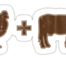 Vintage Brown Chicken Brown Cow Sticker