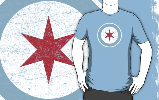 Vintage Chicago Star by colorhouse