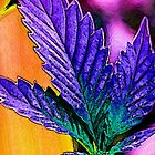 Neon Pot Leaf by FloraDiabla