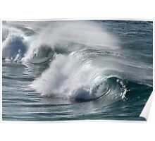 Rolling Surf - SE Qld Australia Poster
