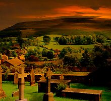 Red Sky on Pendle Hill by JacquiK