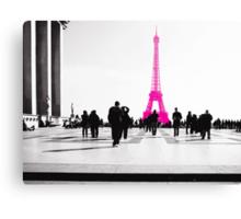 la vie en Rose à Paris Canvas Print