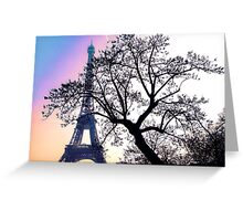sunset at the Tour Eiffel Greeting Card