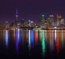 Reflected lights from Skyline - Toronto, Ontario, Canada by Dominic Boudreault
