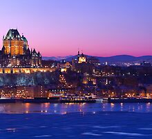 Sunset on the Chateau Frontenac - Quebec City, QC, Canada by Dominic Boudreault