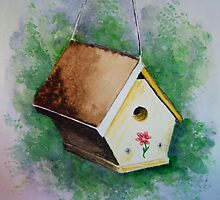 Birdhouse Chalet by Debbie  Adams