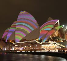 Sydney Opera House at Night - Vivid 2011 by Steven Yu