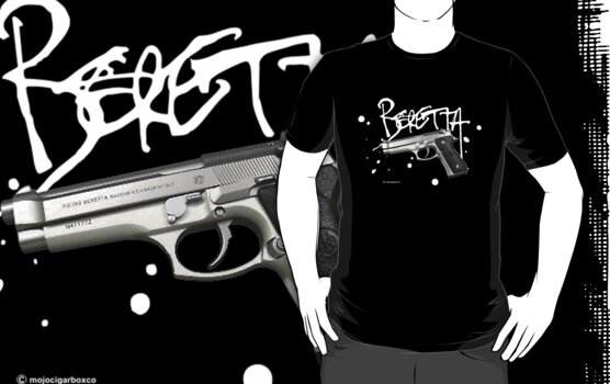 Beretta 9mm Pistol - White Logo by DocMiguel