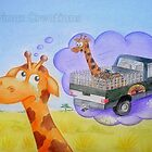 Cedric the Giraffe - Illustration 3 by Corrina Holyoake