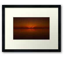 Sunrise Over The Coral Sea Framed Print