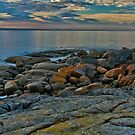 Tranqulity on the rocks by doug hunwick
