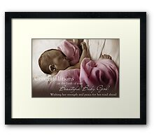 New Born Baby Girl - NICU Stay Framed Print