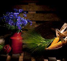 Summer Field Still life with Cornflower Nr. 2 by Ondřej Smolka