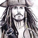 Johnny Depp as Cap&#x27;n Jack PSC by wu-wei