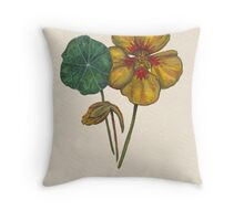 Nasturtium Throw Pillow