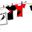 Teehee shirts Greeting card by Patjila by patjila