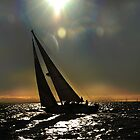 Sun Silhouette Sailing by linaji