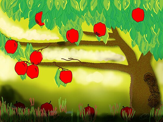 Under the Apple Tree by 1illustlady