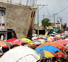 Port au Prince Street Market by Kent Nickell