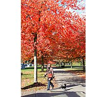 Walking the Dog, Vancouver City, Canada  Photographic Print