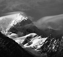 mt tasman II  fox glacier south westland nz by rina  thompson