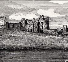 189 - ALNWICK CASTLE - DAVE EDWARDS - INK - 1991 by BLYTHART