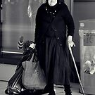 woman with cane by Karen E Camilleri
