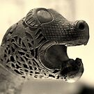 Viking beasts : Carved head 1 by CliveOnBeara