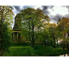 Saltaire United reformed church & canal Photographic Print