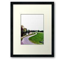 River Aire & Salts park Framed Print