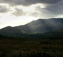 Sunlight breakthrough on Hungry Hill by CliveOnBeara